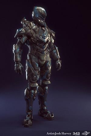 Halo 4 Armor Suit - Venator - Lowpoly Render