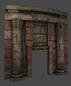 Doorway - Low Poly - Textured