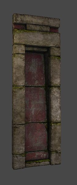 Short Wall Section - Low Poly - Textured