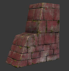 Building Piece - Low Poly - Textured