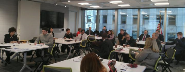 Members of the Illinois REALTORS® Consulate General Liaison Program during training in Chicago.