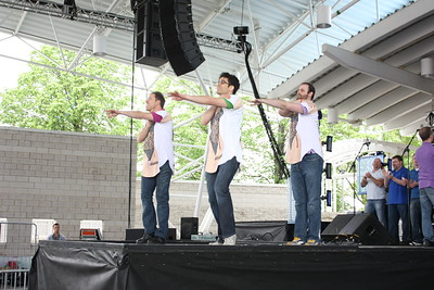 """Members of CGMC visited our neighbors to the north in Milwaukee, WI for PrideFest Milwaukee 2011. CGMC performed two sets from our recent """"DIVAS!"""" show at the Pump! Dance Pavilion to enthusiastic crowds. Photos ©2011 Rick Aiello Photography."""