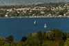 Photos of boats on Lake Geneva from the Route de Pregny overlook