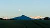 Full moon - Aguille Vert, Le Môle & Mt. Blanc