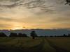 Sunset over wheat fields near Chemin de Machéry