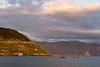 Sunset at the lakeside (Lake Geneva) in Cully (VD)