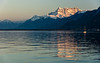 Sunset from the lakeside in Vevey (at the port of Vevey)