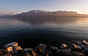 Sunset photos at lakeside in Vevey