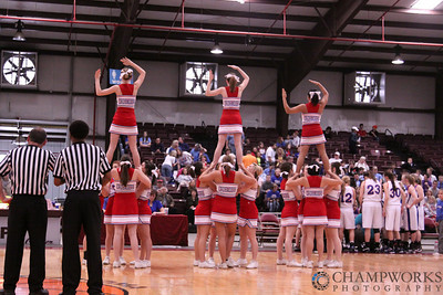 CHA Cheerleaders at Class 2A, Area IV Playoffs - March 4-6, 2010