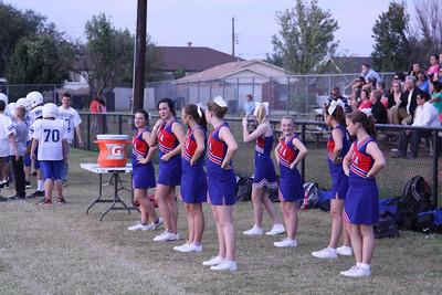 CHA JH Cheerleaders at SantaFe South - September 25, 2012