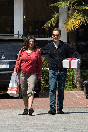 EXCLUSIVE- Santa Monica,California,March 26,2009. Actor Chad Lowe and his pregnant girl friend Kim Painter make the preparation in Fred Segal for the future baby,they are expecting their first child in May 2009.
