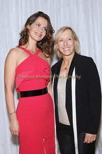 Martina Navratilova and Partner Julia Lemigova