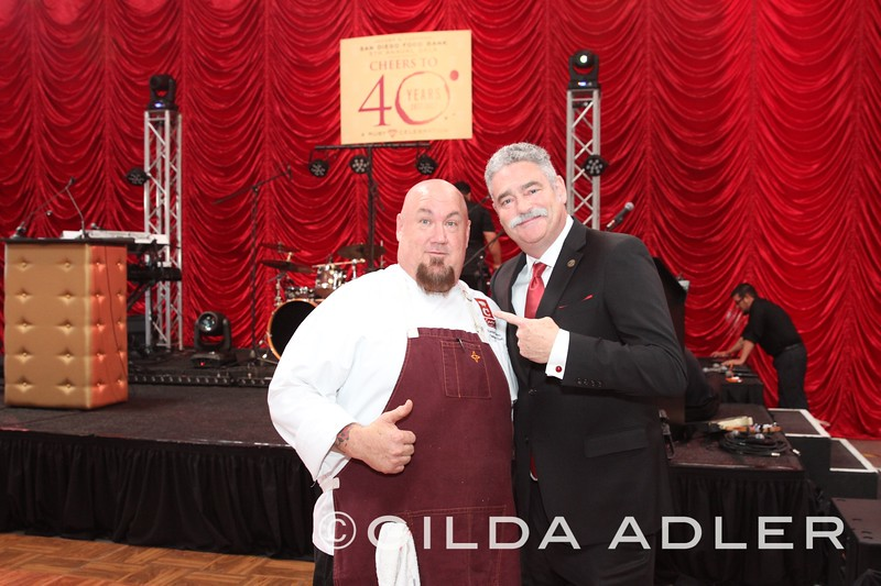 CHEF HANIS CAVIN AND CEO JAMES FLOROS