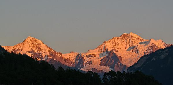 Sunset from Interlaken