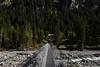 Footbridge over Kander river in Gasterntal valley