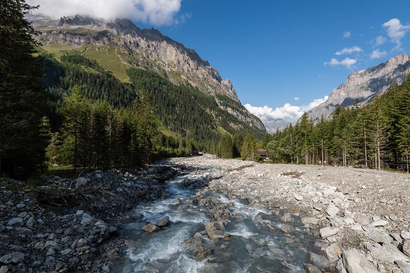 Kander river in Gasterntal valley