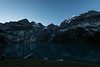 Sunrise photos at shore of Oeschinensee