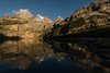 Sunset photos at shore of Oeschinensee