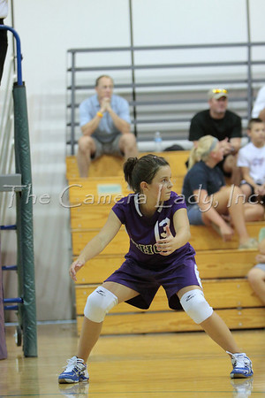 CHCA 2009 MS Bteam Volleyball Scrimmage vs Mars Hill 08.27