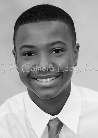 CHCA 2012 MS 8th Grade Class B&W Portraits