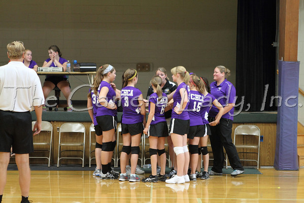 CHCA 2012 MS Girls A Volleyball Team vs New Miami 09.06