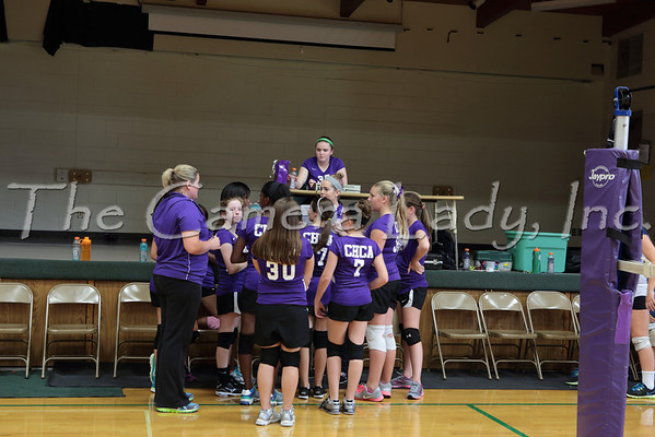 CHCA 2013 Girls MS B Volleyball vs CCD 09.09