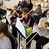 Chelmsford All Town Wind Ensemble was preparing to perform at the National Band and Orchestra Festival at Carnegie Hall in New York City in March at McCarthy Middle School on Wednesday night. SUN/JOHN LOVE