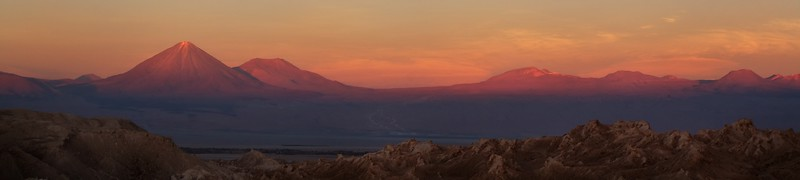 The scenery at San Pedro de Atacama surpassed all my expectations. The colours are exceptional and the altitude hard to fathom. Licancabur Volcano (pictured here) nearly reaches 6,000 metres above sea level.  Chile.  2010.