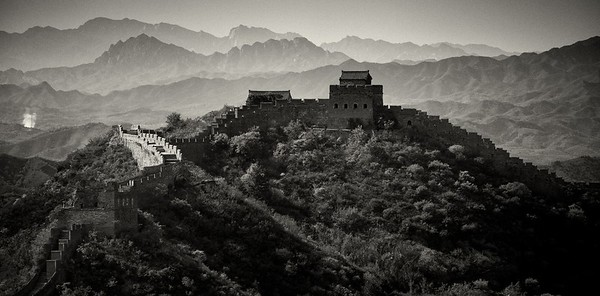 The scale alone of the great wall boggles the brain, but it's not until you see it up close, stretching over mountain peak after mountain peak that you are able to truly appreciate it - Simatai, China.  2012.