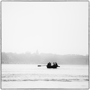 Boating on the Ganges was a highlight for me and seemingly so for many others - Varanasi, India.  2015.