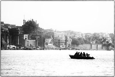 Boating on the Ganges - Varanasi, India.  2015.