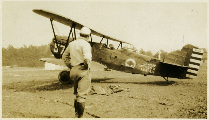 """2.  Same aircraft as the one on the right in photo 1.   Photo labeled """"Airplane at Charlie Lee Martindale Airport in the 30s..."""""""