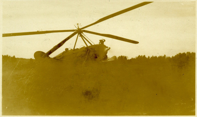 10.  Possibly an autogyro.  Stamp on back:  Finished by / Foister Photo Co. / Chapel Hill, N. C.