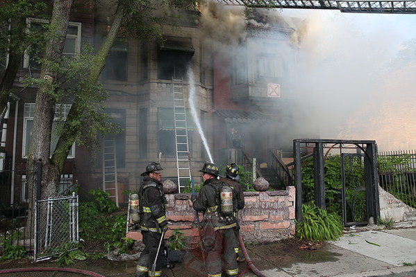 2-11 Alarm fire 4200 S. Champlain June 29, 2014