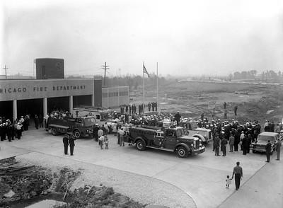 3712-17  DEDICATION OF ENGINE 80'S NEW STATION   1960'S