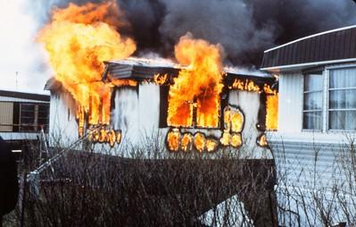 ELK GROVE TOWNSHIP TRAILER FIRE