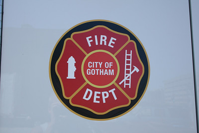 GOTHAM CITY LOGO THAT WAS ON CFD RIGS USED IN THE MOVIE