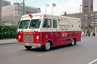 OVERLAND CRITICAL CARE UNIT 812 G-424 1973 FORD P600 - MARION  INSERVICE 9-1978' DISBANDED 1999