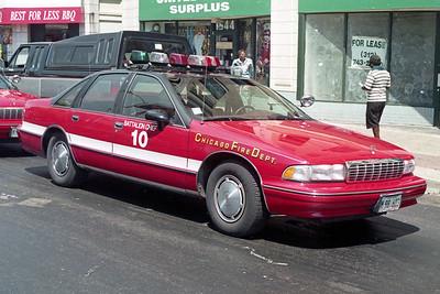 BATTALION 10  1994  CHEVY CAPRICE   WHITE STRIPE      A-398