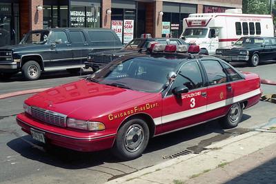 BATTALION 3  1992  CHEVY CAPRICE   FIRE SCENE   A-345