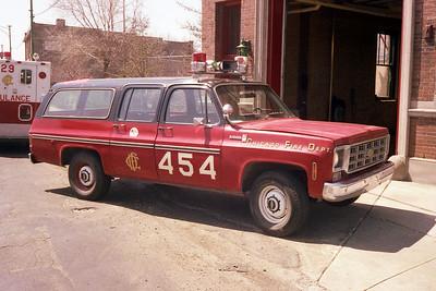 EMS FIELD CHIEF 4-5-4  1978  CHEVY SUBURBAN   B-401   X- BATTALION 13