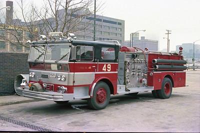 ENGINE 49 1970  WLF P80   2000-500   D-378   AT THE ACADAMEY