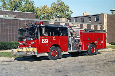 ENGINE 69  1970  WLF P80 - 1990  RANGER - E-ONE   2000-500   D-374   X- ENGINE 8 & ENGINE 18   USED IN BACKDRAFT