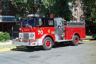 ENGINE 70  1974  MACK MB - 1987  E-ONE   1250-500   D-403   X- ENGINE 71