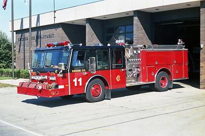 ENGINE 11  1988  E-ONE HURRICANE   1500-500-40F   D-507