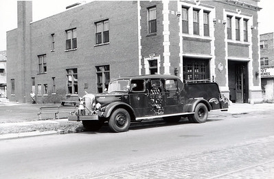 ENG 129 IN FRONT OF THE HOUSE  D-186  1948 MACK SEDAN  1000-0  9-18-1948