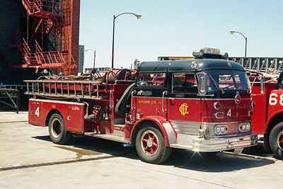 CHICAGO FD  ENGINE 4  MACK C95  OFFICERS SIDE AT THE ACADEMY