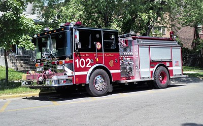 CHICAGO FD  ENGINE 102  1998  HME - LUVERNE   1500-500