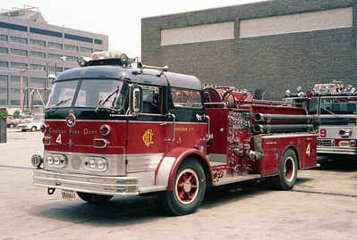 CHICAGO FD  ENGINE 4  MACK C95     AT THE ACADEMY