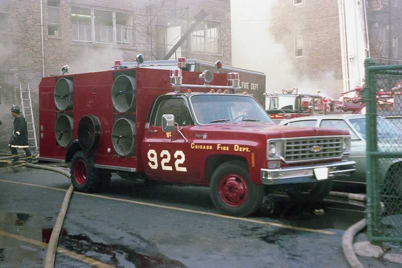SMOKE EJECTOR 922 AT A WORKING FIRE